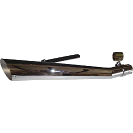 "Helix 24"" Upswept Slash Muffler - Helix Heat Shield - 18"