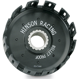 Hinson Billet Clutch Basket - 2004 Honda CR85 Big Wheel Barnett Clutch Kit