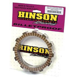 Hinson Clutch Fiber Plates - 8 Pack - 2004 Honda TRX450R (KICK START) Hinson Billet Clutch Basket