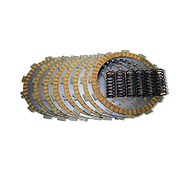 Hinson Clutch Fiber, Steel, 6 Spring Kit - 2002 Honda CRF450R Hinson Billet Clutch Basket With Cushions