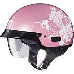HJC IS-2 Helmet - Blossom - HJC IS-2 Motorcycle Half Shell Helmets