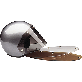 HJC HJ-09 Flat Shield With Tear-Off Posts - Rockhard American Classic Helmet
