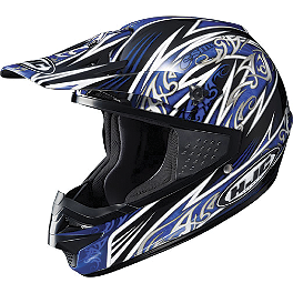 HJC CS-MX Scourge Helmet - 2012 Troy Lee Designs Women's Ace Gloves - Voodoo