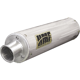 HMF Performance Series Slip-On Exhaust - Brushed - 2010 Kawasaki KFX450R HMF Performance Series Slip-On Exhaust - Brushed
