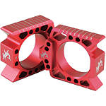 Hammerhead Axle Blocks - Red - Hammerhead Dirt Bike Dirt Bike Parts