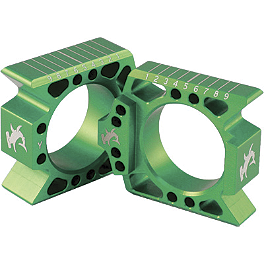 Hammerhead Axle Blocks - Green - Turner Front Wheel Spacers - Green