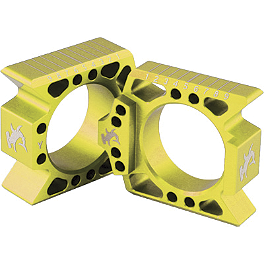 Hammerhead Axle Blocks - Gold - 2007 Suzuki RMZ250 DNA Specialty Rear Wheel 1.85X19 - Yellow/Black