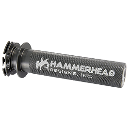 Hammerhead Aluminum Throttle Tube - Dark Grey - Akrapovic Slip-On Line Titanium Exhaust