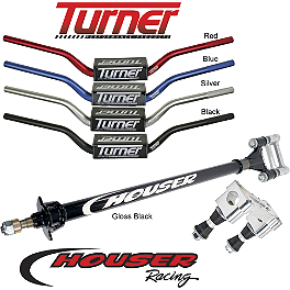 Houser Steering Stem And Turner Oversized Bar Combo - Houser Pro Bounce Aluminum Nerf Bars - MX