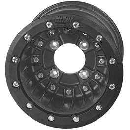 Hiper CF1 Single Beadlock Rear Wheel - 8X8 3+5 Black - 2008 Suzuki LTZ400 Maxxis RAZR XM Motocross Front Tire - 19x6-10