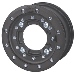 Hiper CF1 Single Beadlock Front Wheel - 10X5 3+2 Black - 2005 Honda TRX450R (KICK START) Hiper CF1 Single Beadlock Rear Wheel - 8X8 3+5 Black