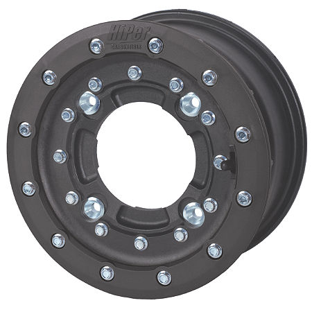Hiper CF1 Single Beadlock Front Wheel - 10X5 4+1 Black - Main
