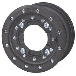 Hiper CF1 Single Beadlock Front Wheel - 10X5 4+1 Black - 2009 Can-Am DS450 Maxxis RAZR XM Motocross Front Tire - 19x6-10
