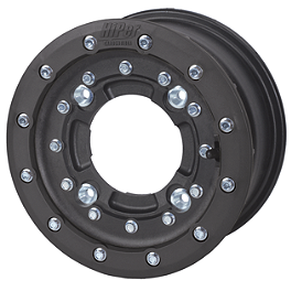 Hiper CF1 Single Beadlock Front Wheel - 10X5 4+1 Black - 2000 Polaris SCRAMBLER 400 2X4 Maxxis RAZR XM Motocross Front Tire - 19x6-10