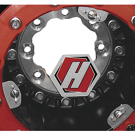 Hiper Mud Plug - 1987 Kawasaki MOJAVE 250 Hiper CF1 Single Beadlock Front Wheel - 10X5 4+1 Black