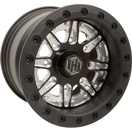 Hiper Technology Sidewinder 2 Single Beadlock Front/Rear Wheel - 12x6 4+2 Black - Main