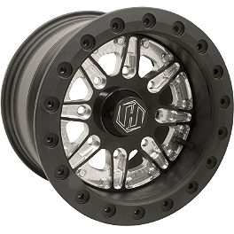 Hiper Technology Sidewinder 2 Single Beadlock Rear Wheel - 12x7 5+2 Black - 2010 Can-Am OUTLANDER MAX 400 EPI Sport Utility Clutch Kit - Stock Size Tires - 3000-6000'
