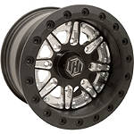 Hiper Technology Sidewinder 2 Single Beadlock Front Wheel - 12x7 4+3 Black - Utility ATV Products