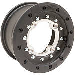 Hiper Technology Tech 3 Dual Beadlock Rear Wheel - 10x10 4+6 Black - FOUR Dirt Bike Tire and Wheels