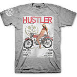 Hustler Cover Girl T-Shirt - Hustler Dirt Bike Mens Casual