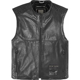 Icon 1000 Associate Vest - Speed & Strength Tough As Nails Leather Vest