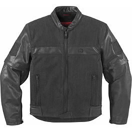Icon 1000 Outsider Convertible Jacket - Icon Device Leather Jacket