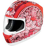 Icon Alliance Helmet - Cherry Pop - Womens ICON Full Face Motorcycle Helmets
