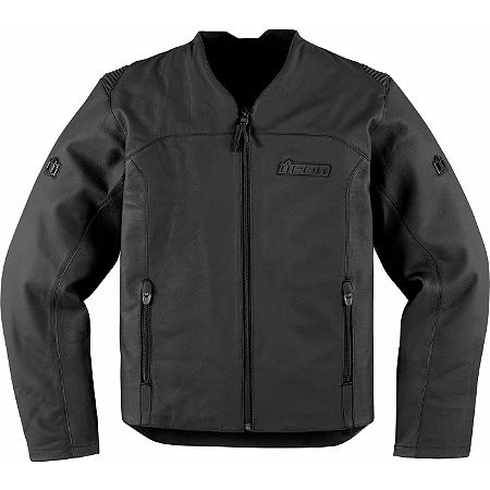 Icon Device Leather Jacket - Main