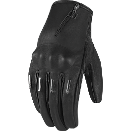 Icon 1000 Women's Hella Kangaroo Gloves - Short - Dainese Women's Leather Aura Gloves
