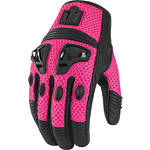 Icon Women's Justice Mesh Gloves - Motorcycle Riding Gear