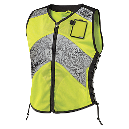 Icon Women's Corset Reflective Vest - Firstgear Temperfoam Back Pad