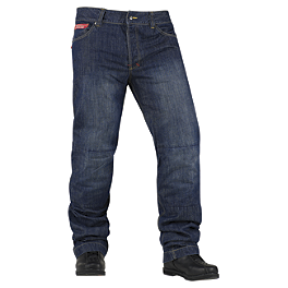Icon Strongarm 2 Pants - AGVSport Shadow Kevlar Blue Jeans
