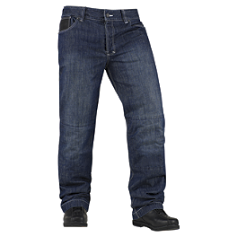 Icon Strongarm 2 Enforcer Pants - AGVSport Shadow Kevlar Blue Jeans
