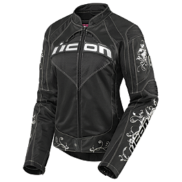 Icon Women's Speed Queen Jacket - Teknic Women's Venom Leather Jacket