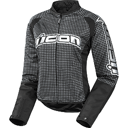 Icon Women's Hooligan 2 Glam Jacket - Icon Women's Hooligan 2 Stealth Jacket