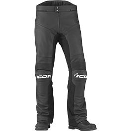 Icon Overlord Prime Leather Pants - River Road Pueblo Cool Leather Overpants