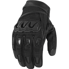 Icon Compound Mesh Short Gloves - Icon Justice Touchscreen Gloves