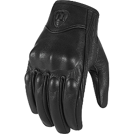 Icon Pursuit Touchscreen Gloves - Jardine GP-1 Dual Stainless Steel Slip-On Exhaust - Black