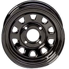 ITP Delta Steel Rear Wheel - 12X7 Black - 2012 Honda RANCHER 420 4X4 ITP Mud Lite AT Tire - 24x8-12