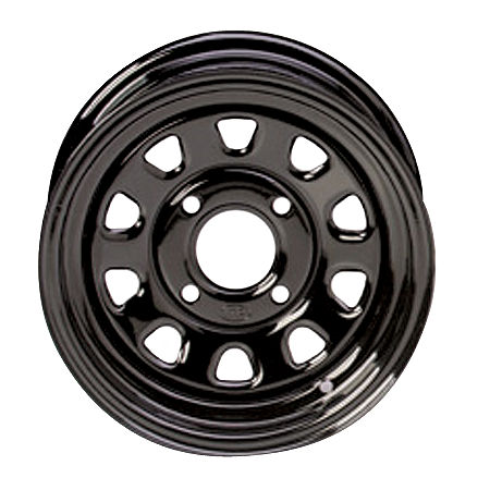 ITP Delta Steel Front Wheel - 12X7 Black - Main