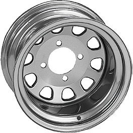 ITP Delta Steel Front Wheel - 12X7 Silver - ITP Delta Steel Rear Wheel - 12X7 Silver