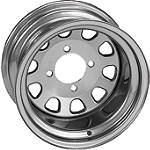 ITP Delta Steel Front Wheel - 12X7 Silver - Utility ATV Rims & Wheels