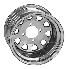 ITP Delta Steel Rear Wheel - 12X7 Silver - ITP Delta Steel Front Wheel - 12X7 Silver