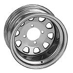 ITP Delta Steel Rear Wheel - 12X7 Silver - Utility ATV Wheels
