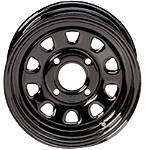 ITP Delta Steel Front Or Rear Wheel - 12X7 Black - Utility ATV Rims & Wheels