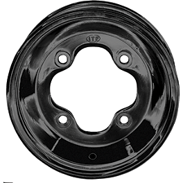 ITP T-9 GP Front Wheel - 10X5 3B+2N Black - 2000 Polaris SCRAMBLER 500 4X4 DWT Evo Front Wheel - 10X5 Black