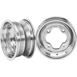 ITP T-9 GP Front Wheel - 3B+2N 10X5 Polished - 1999 Polaris SCRAMBLER 400 4X4 ITP Holeshot MXR6 ATV Front Tire - 19x6-10