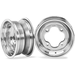 ITP T-9 GP Rear Wheel - 10X8 3B+5N Polished - 2011 Yamaha RAPTOR 350 ITP Holeshot MXR6 ATV Front Tire - 19x6-10