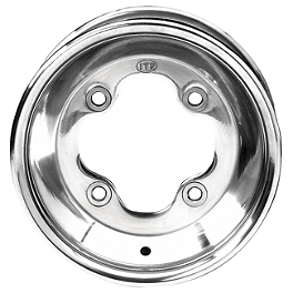 ITP T-9 GP Rear Wheel - 9X8 3B+5N Polished - 2010 Kawasaki KFX450R ITP SS112 Sport Front Wheel - 10X5 3+2 Black