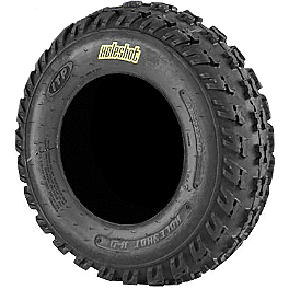 ITP Holeshot H-D Front Tire - 22x7-10 - 2005 Kawasaki KFX80 ITP Sandstar Rear Paddle Tire - 18x9.5-8 - Left Rear